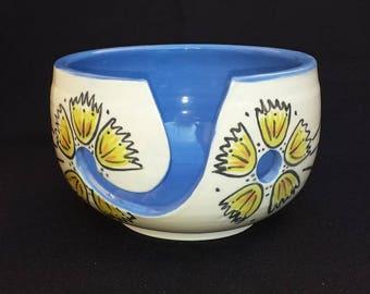 Yarn Bowl Floral Design