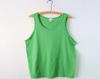 MEDIUM Vintage 80s/90s Fruit of the Loom Golden Blend Soft and Thin Sleeveless Tank Top