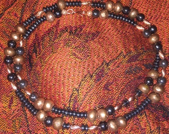 SomethingXquisite Jewelry Necklace Copper Hematite Beaded Jewelry Custom HandMade Fashion Layering Necklace