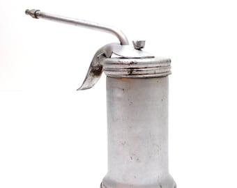 Eagle Oil Can /  Eagle Hand Pump Oiler / Pistol Pump Oiler / Pistol Grip Oil Can / Metal Oil Can / Gearhead / Automotive /Garage