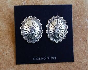Navajo Sterling Stud Earrings