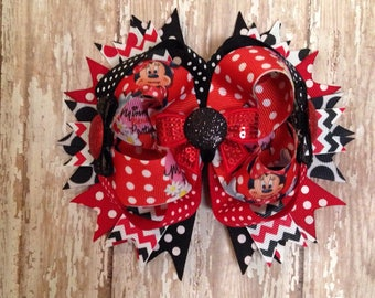 Minnie Mouse Stacked Bow
