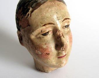 Virgin Head. XIX century Virgin Mary Head.