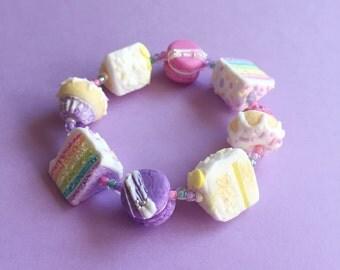 Stretch pastel cake bracelet