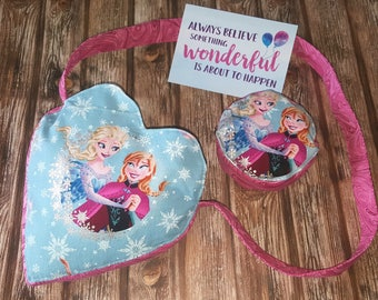 Heart shaped Bag with matching Purse in Frozen