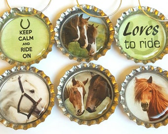 Horse Wine Charms Horse Gift