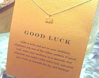 Good Luck necklace with gilded elephant as a gift