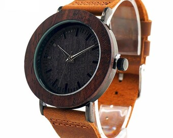 Wooden watch,  quartz watch, men's watch ,ladies whatch unisex