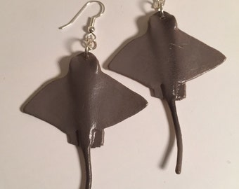 Plastic Toy Sting Ray Earrings