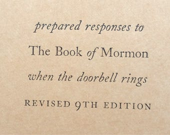 Book of Mormon - Letterpress Small Funny Notebooks, Jotters, Mini Journals,Moleskins, Cahiers - A6 Pocket Notebooks