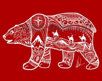 Christmas Bear 10 X 8