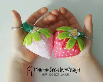 Strawberry Keychain Favor-Party Favors-Gadget Strawberry