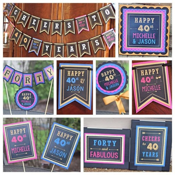 Couples Birthday Decorations His Her Birthday Husband Wife Birthday 40th Birthday Joint