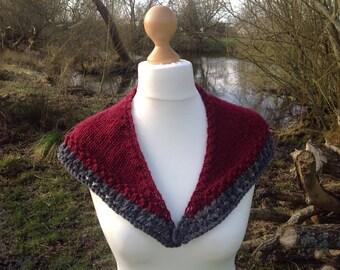 Knitted Sassenach Shawl.... Collar Shawl