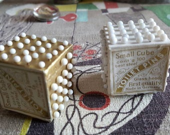 Antique Victorian Toilet Pin Cubes Made in Germany Early 1900s  C208