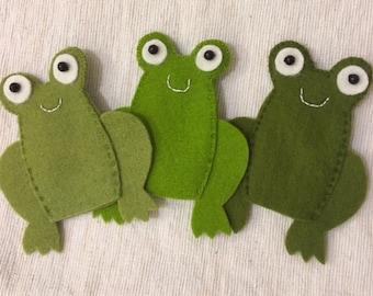 Three Little Speckled Frogs - finger puppet set