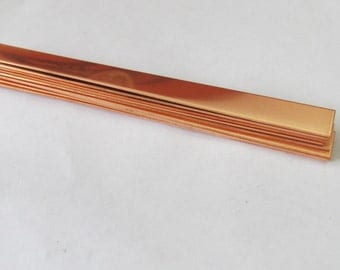 1/4 x 5 - Copper Bracelet Cuff Blank -22 G - girl size cuff blanks - copper strips - small cuff blanks - copper blanks - jewelry blanks