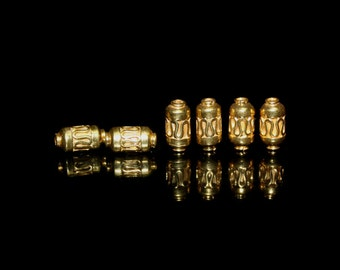 6 x Gold Vermeil Wire Work Tube Beads, Gold Vermeil Tube Spacer Beads, Bali Beads, Vermeil Spacer Beads, Vermeil spacers, Vermeil Beads