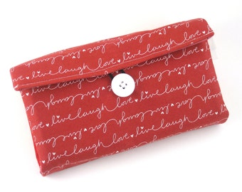 Cash Envelope Wallet | Cash Budget Wallet | Money Envelope System | Love |  Women's Wallet