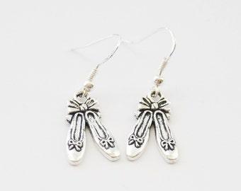 Ballet Slippers Earrings, Ballerina Earrings, Ballet Earrings, Ballet Jewelry, Ballet Slippers Jewelry, Ballet Slippers, Dancer Earrings
