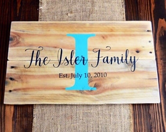Family established Custom Last Name Pallet Sign wedding sign Rustic wedding signs Anniversary gift Gift for new couple Custom wedding gift