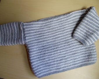 Hand knitted baby boy/girls sweater/jumper