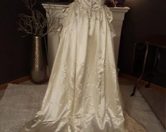 1940's Satin Wedding Gown