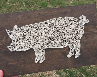 MADE TO ORDER String Art Pig Sign