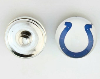 Indianapolis Colts Snap Button Charm-Qty:1