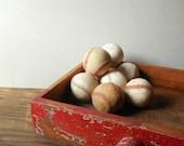 Vintage Baseballs ~ Old Used Baseballs Bowl Filler  / item#0613