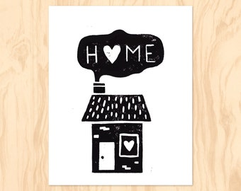 HOME : Printable Art, Nursery Art, Kids Wall Art, Instant Download, Wall Art