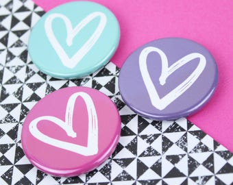 Fridge magnet, Girly gift, Heart magnets, Memo board magnets, 38mm heart fridge magnet set