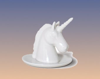 Ceramic Unicorn Ring Holder
