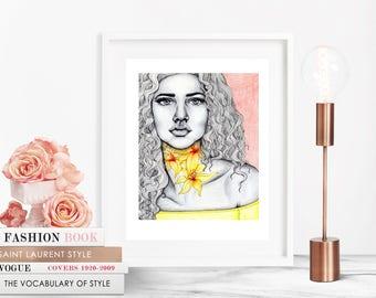 Lily / Fashion Illustration / Fashion Print