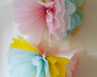 2 x Girls birthday party wedding baby shower  19inch butterfly tissue paper wall decorations
