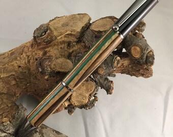 Screwdriver Twist Pen - Colorwood w/Gun metal - Hand-turned
