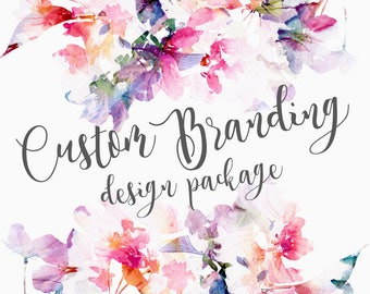 Custom Photographer or Etsy Shop Creative Branding Package Logo Business Cards & More