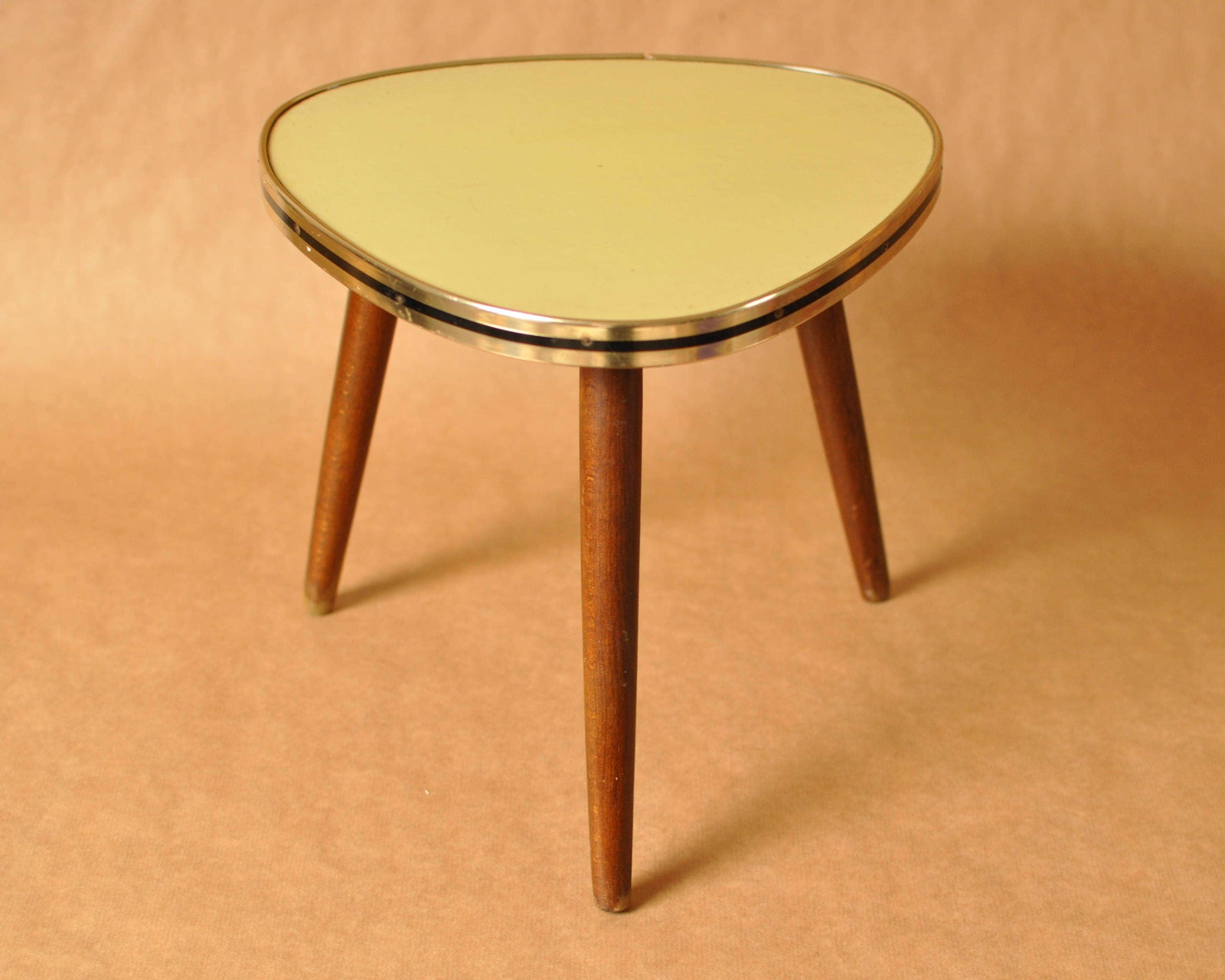 Yellow Nierentisch Mid Century German Coffee Table Kidney