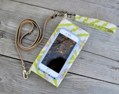 Cell Phone Wallet, Cross Body Cell Phone Purse, Fabric Phone Wallet