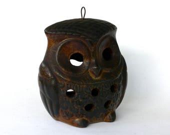 Ceramic Hanging Owl Lantern, Owl Tea Light Holder, Animal Candle Holder, Hanging Decoration, Hanging Candle Holder