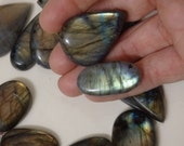 Wholesale Rainbow Labradorite Cabs--Large. (cabochons gem gemstone crystal shiny blue gold green stone wire-wrapping pagan magic fairy spark