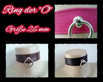 O *-leather collar 4-31 22/26 mm ring