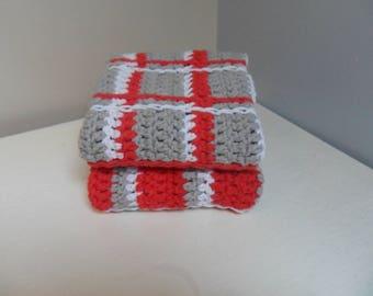 100% Crochet cotton Cloths, Towels, Face Cloth, Kitchen Cloth - Set of 2