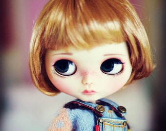 """9-10"""" BEAUTIFUL Golden Blond doll WIG for Blythe and Neo Blythe"""