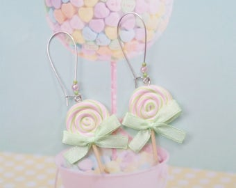 earrings lollipops polymer clay