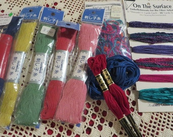 Fiber Art Supplies Embroidery Thread by OLYMPUS DMC Boucle and The Pop Knot  //  Craft Supplies  //  Embroidery Crewel Cross Stitch Supplies