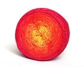 96 gr! Ais - Hand dyed gradient - luxury silk/cashmere