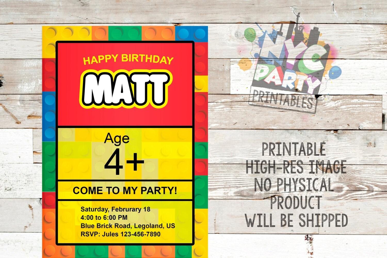 lego invitations  etsy, Party invitations