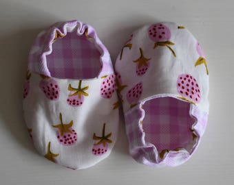 Strawberry Baby Booties - Baby Shoes
