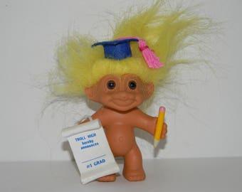 """Vintage Russ Troll Graduate Graduation Troll Doll 5"""""""